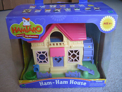 Vintage HamTaro Little Hamsters Ham Ham House In Box 2002 Hasbro