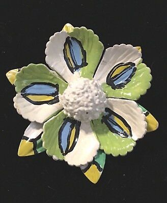 Beautiful Vintage Paper Mache Flower Pin 2497 Picclick