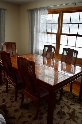 RARE Bernhardt Flair Shibui Dining Room Table & (1) Leaf (NO CHAIRS)
