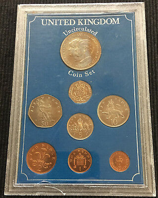1982 United Kingdom Uncirculated 8 Coin Set