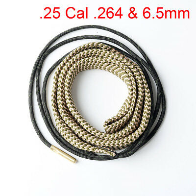 New Bore 25cal 6.5mm Caliber Snake Rifle Cleaning Kit Gun Rope Cleaner Hot Sale