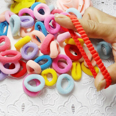100 Pcs Women Girls Hair Band Ties Rope Ring Elastic Hairband Ponytail Holders