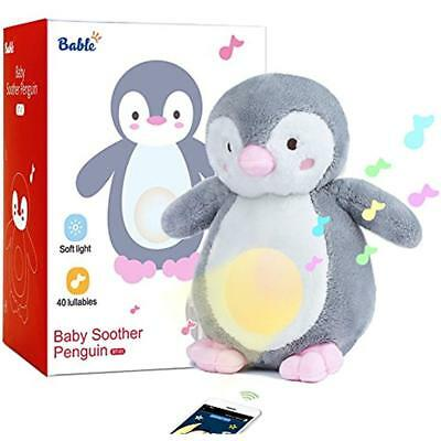 Bable Baby Sound Machine And Night Light Sleep Aid, White Noise With 40 Soothing