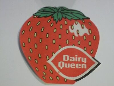 DAIRY QUEEN 1976 Iron-On POCKET PATCH STRAWBERRY Unused Vintage DQ FREE MAILING!