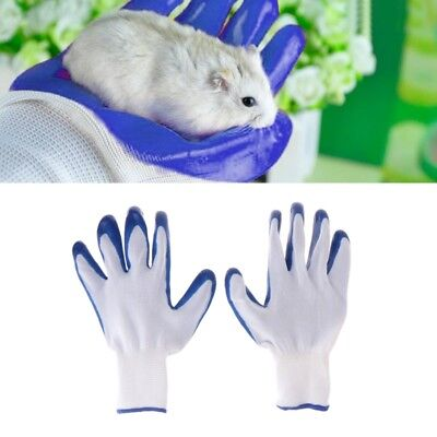 1 Pair Rubber Gloves Pet Hamster Anti Bite Bathing Small Animal Accessories Soft