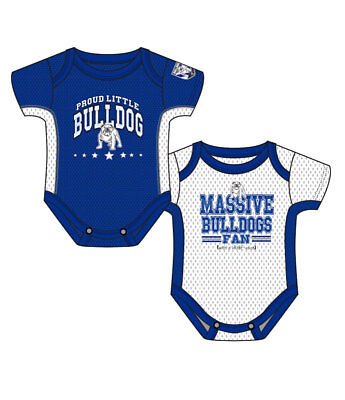 Canterbury Bulldogs NRL 2 Short Sleeve Bodysuits Rompers size 00