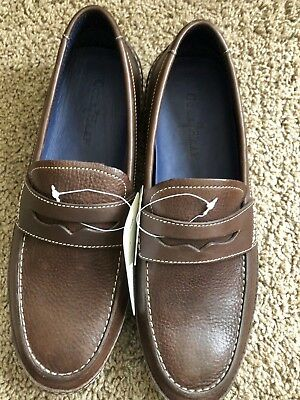 e148641e84f COLE HAAN MENS 8.5 Brown Leather Driving Moccasins Casual Tie ...