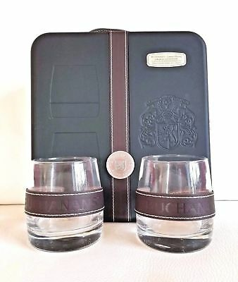 Very Rare New Original Buchanan's Scotch Whiskey RARE Gift Box with 2 Glasses