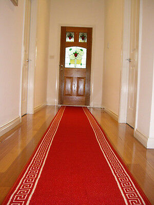 Hallway Runner Hall Runner Rug Modern Red 5 Metres Long FREE DELIVERY NB 90865