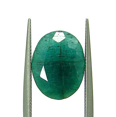 3.75 Ct Natural Certified Green Emerald Loose Oval Cut Ringsize Gemstone- 108936