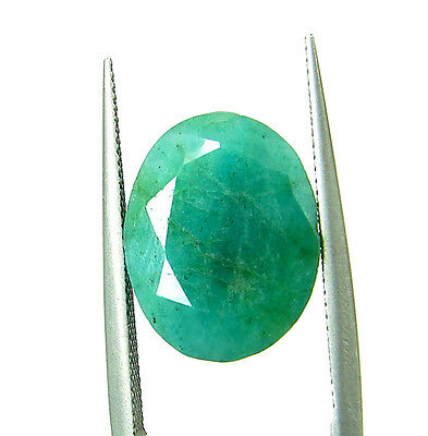 4.45 Ct Certified Natural Green Emerald Loose Oval Colombian Gemstone - 109061
