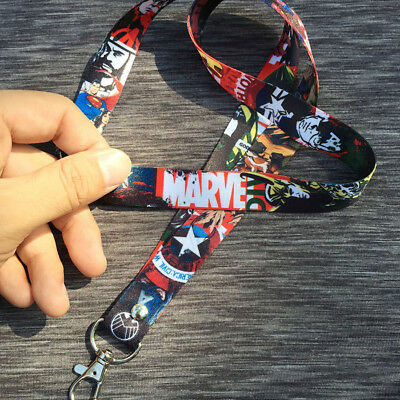 Marvel Avengers Heros Neck Strap Lanyard ID Badge Holder Phone Key Chain