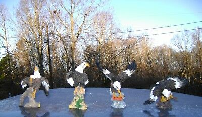 NEW~ Set of 4 Bald Eagle Figurines