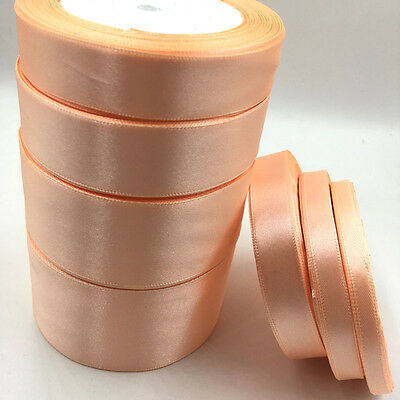 Peach Satin Ribbon Wedding Party Decoration Gift Wrapping Christmas ribbon