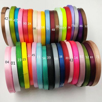 25 Yards 6mm Satin Ribbons Wedding Party Sewing Decorations
