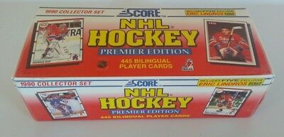 NHL Hockey 1990 Score Collector Set Premier Edition Bilingual Player Cards New