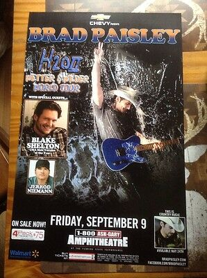 Brad Paisley H2o 2 Wetter And Wilder World Tour Poster