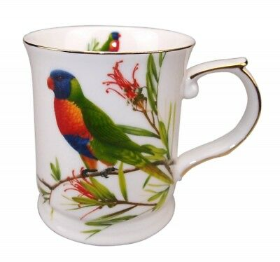 Rainbow Lorikeets 415cc Mug Coffee Tea Cup Fine Bone China Birthday Xmas Gift