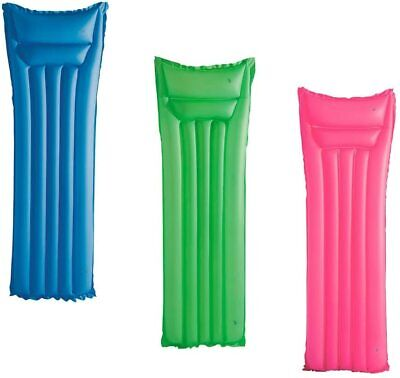 Swimming Pool INFLATABLE LILO Lounger Air Bed Mattress Float Blow Up 183cmx69cm