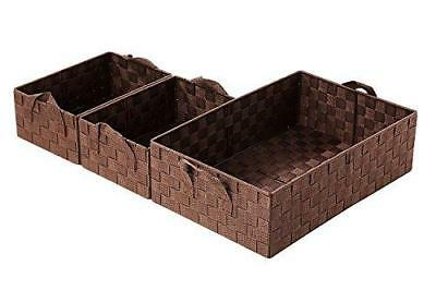 Juvale Decorative Storage Organizer Nesting Baskets 3 Piece