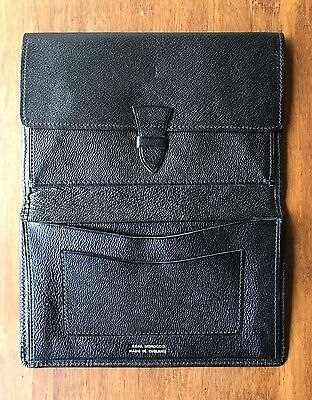 Vintage Black Leather Wallet - Moroccan Leather Made In England