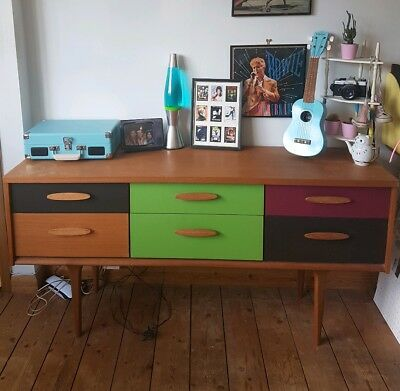 Vintage retro mid century G plan style upcycled sideboard