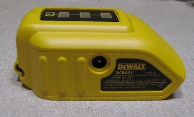 genuine Dewalt DCB091 USB adaptor Charger battery tester Jacket charger phone