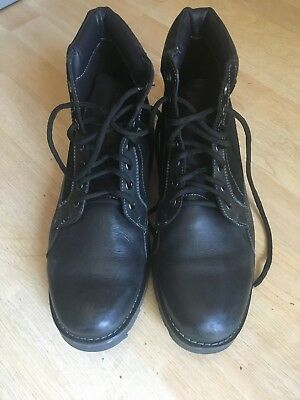 9092b626253 Men's Steve Madden Coltun Lace Up Boot Black with Suede accents size 10.5
