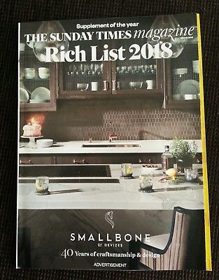 The Sunday Times Magazine Rich List 2018 New