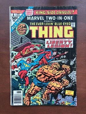 Marvel Two-In-One Annual #1 (1976) 5.0 VG Marvel Key Issue Comic Book Bronze Age
