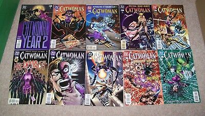 Catwoman  - Issues - 40,41,42,43,44,45,46,47,48,49  -  Dc Comics