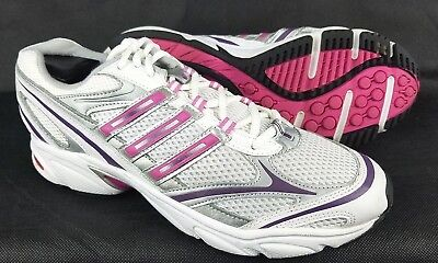 Details about Adidas Adiprene Womens 6 Running Shoes Sneakers Pink White Athletic Lace Up NICE
