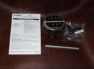 La Gard 3750-K  Electronic Digital Safe Satin Chrome Keypad