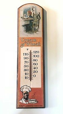 Vintage Cream Of Wheat advertising wood sign with thermometer Nabisco Brands Inc