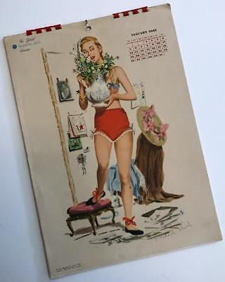 Vintage 1947 Special Esquire Girl Cheesecake Calendar Pin-Up Girlie JF Smith