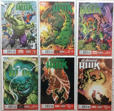 Savage Hulk complete series #1 - #6 (Marvel 2014) Hi grade 1st prints.