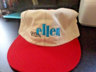 Vintage ELLEN Beige and Red Baseball Cap Hat From Original TV Series BRAND  NEW! 350d5ff0b49c