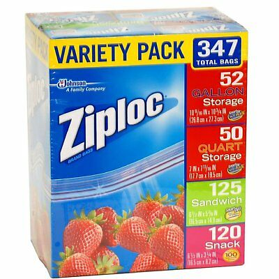Ziploc Food Seal Top Bags, Quart/Gallon/Snack/Sandwich Pick From 4 Sizes