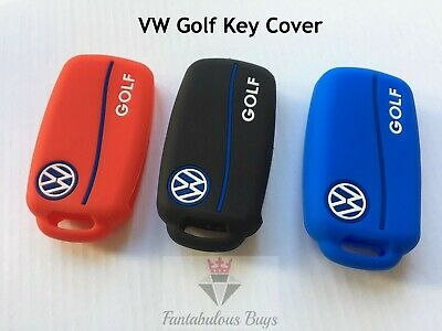 VW GOLF Silicone Key Fob Case Cover Volkswagen Mk5 Mk6 Rubber Sleeve Shell UK