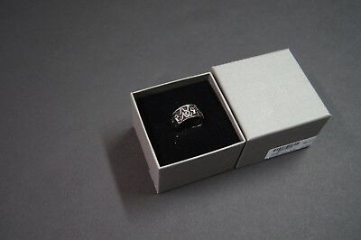 Alexander McQueen Men Silver Viking Skull Band Ring NEW NIB