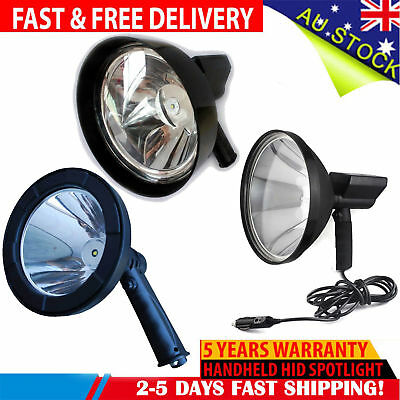 LED 1500W Rechargeable Spotlight Hunting Hand Held Torch Spot Light 12V OffRoad