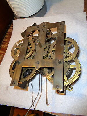 Large-Antique-American-Wall Clock Movement-Ca.1870-To Restore-#P271