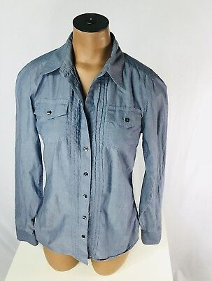 44415472 Banana Republic Women's Button Down Shirt Size XS Pleated Thin Knit Work  Blouse