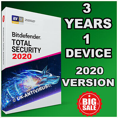 Bitdefender Total Security 2019  3 Years Activation 1 Device - Digital Delivery