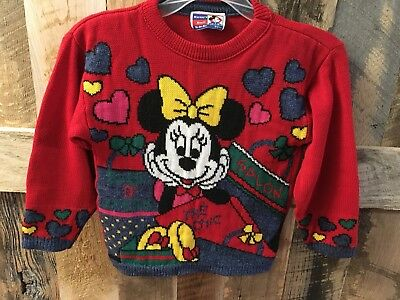 Vintage Disney Minnie Mouse Sweater By Jet Set French Salon Graphics