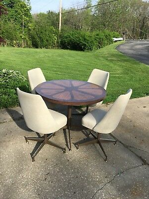 Mid Century Chromcraft Style Dinette Kitchenette Table And Chairs