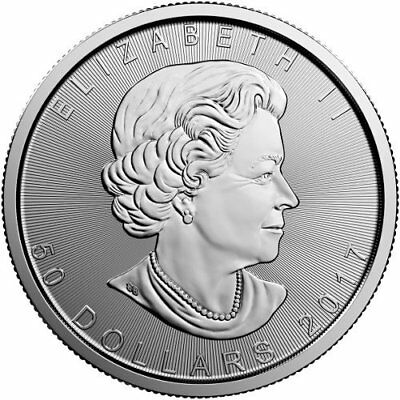 2017 $50 Platinum Canadian Maple Leaf .9995 1 oz Brilliant Uncirculated