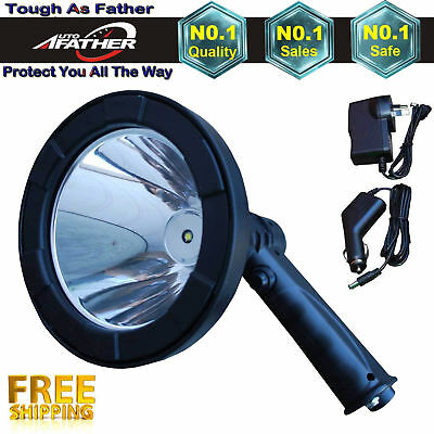1500W CREE Handheld Spot Light Rechargeable LED Spotlight Hunting Shooting 12V 9