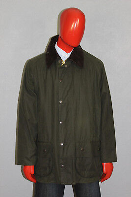 Mens Barbour Beaufort Waxed Cotton Jacket Green Size C46/117 cm