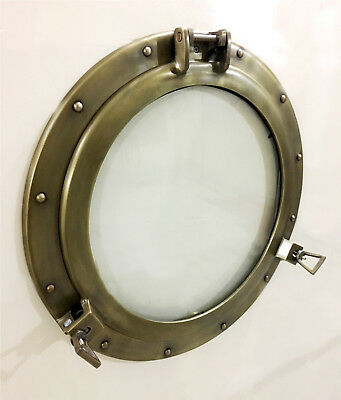 "20"" Aluminum Porthole Glass Window Antique Finish Cabin Porthole ~Window"